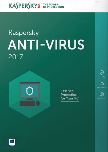 Packaging by Kaspersky Anti-Virus 2017 - 1 User / 12 Months (EU license) [PC-software]