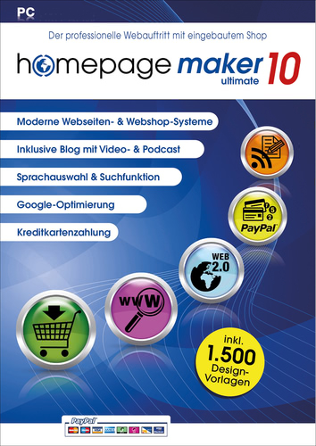 Homepage Maker 10 Ultimate, ESD (Download) (PC)