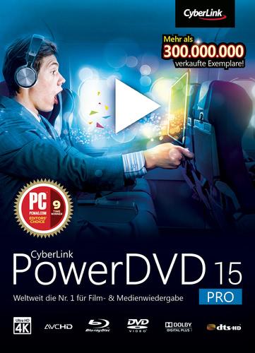 Verpackung von CyberLink PowerDVD 15 Pro [PC-Software]