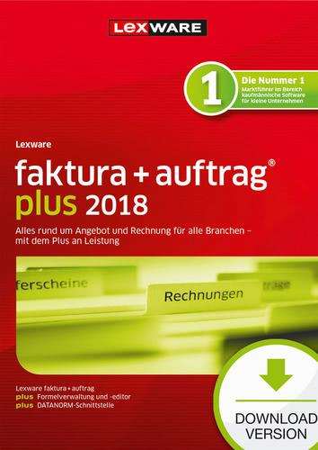 Verpackung von Lexware faktura+auftrag plus 2018 Jahresversion 365-Tage [PC-Software]