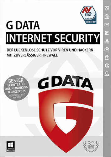 Verpackung von G Data InternetSecurity - 3 User - 12 Monate [PC-Software]