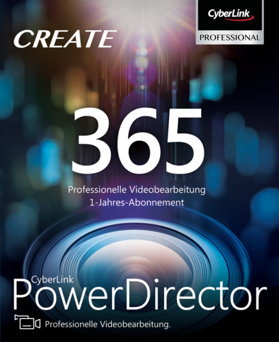 Verpackung von CyberLink PowerDirector 365 Jahresversion (365-Tage) [PC-Software]