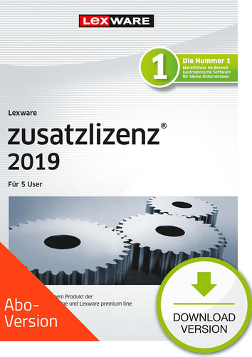 zusatzlizenz 2019 für 5 User Download – Abo Version (Download), PC