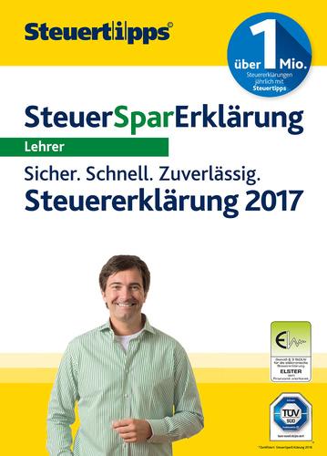 Verpackung von SteuerSparErklärung Lehrer 2018 (für Steuerjahr 2017) [PC-Software]