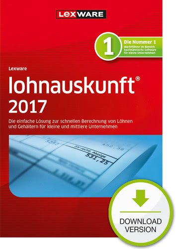 Verpackung von Lexware lohnauskunft 2017 Jahresversion (365-Tage) [PC-Software]