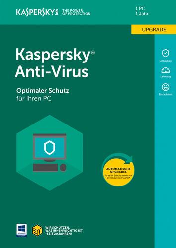 Verpackung von Kaspersky Anti-Virus (Code in Box) (FFP) Upgrade - 1 Gerät / 12 Monate [PC-Software]