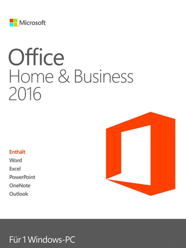 Verpackung von Microsoft Office Home and Business 2016 [PC-Software]