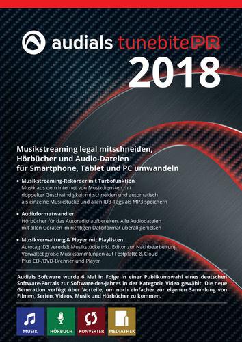 Verpackung von Audials Tunebite 2018 Premium [PC-Software]