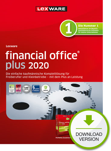 Lexware financial office 2020 plus – Jahresversion (365-Tage) (Download), PC