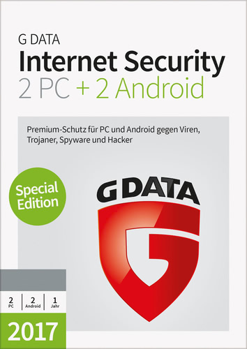 Verpackung von G Data Internet Security 2017 2+2 - 1 User - 12 Monate [PC-Software]