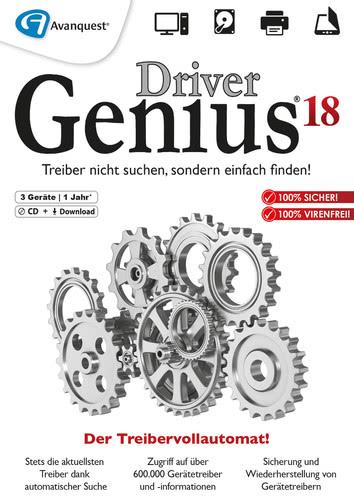 Verpackung von Driver Genius 18 3 Geräte 12 Monate [PC-Software]