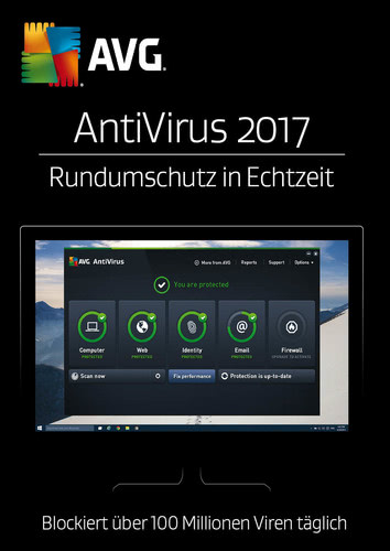 AVG AntiVirus 2017 3 User / 12 Monate