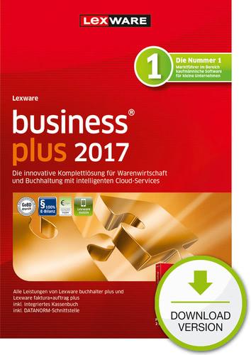 Verpackung von Lexware business plus 2017 Jahresversion (365-Tage) [PC-Software]