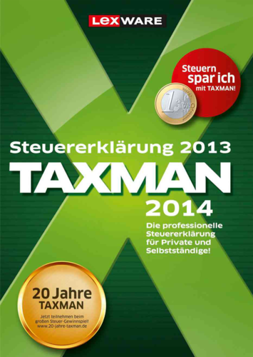 Verpackung von Taxman 2014 (für Steuerjahr 2013) [PC-Software]