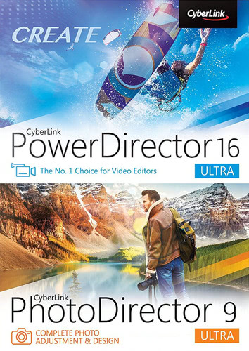 Packaging by CyberLink PowerDirector 16 Ultra & PhotoDirector 9 Ultra Duo [PC-software]