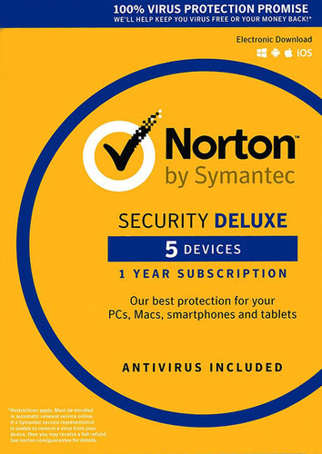 Packaging by Symantec Norton Security 3.0 (2017) Deluxe - 5 Devices / 12 Months (EU license) [PC-software]