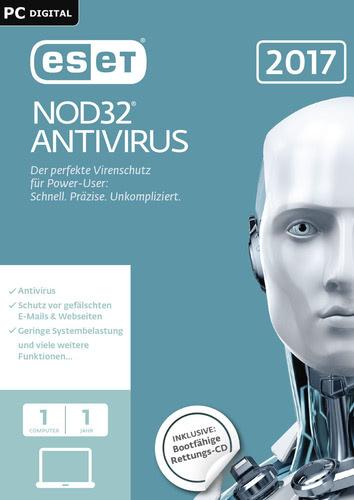 Verpackung von ESET NOD32 Antivirus 2017 Edition - 1 Nutzer 12 Monate [PC-Software]