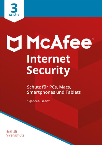 Verpackung von McAfee Internet Security 2018 3 Geräte / 12 Monate [MULTIPLATFORM]