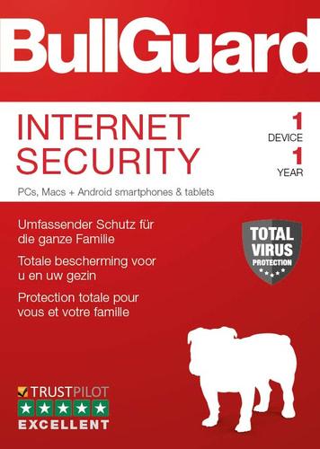 Verpackung von BullGuard Internet Security 2019 1 Gerät 12 Monate [PC-Software]