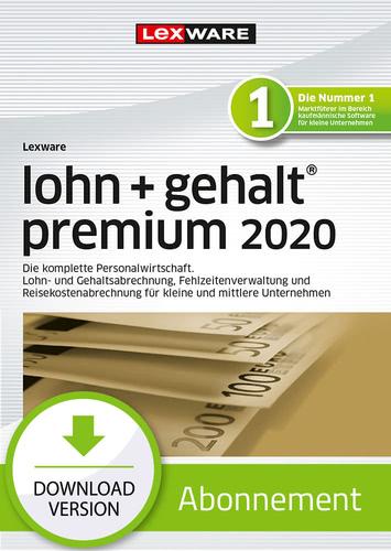 Verpackung von Lexware lohn + gehalt 2020 premium - Abo-Version [PC-Software]