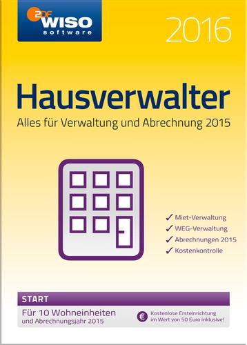 Verpackung von WISO Hausverwalter 2016 Start [PC-Software]