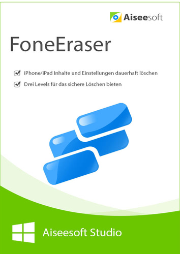 FoneEraser – iPhone data eraser – Lebenslange Lizenz (Download), PC