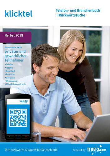 Verpackung von klickTel Telefon- und Branchenbuch inkl. Rückwärtssuche Herbst 2018 [PC-Software]