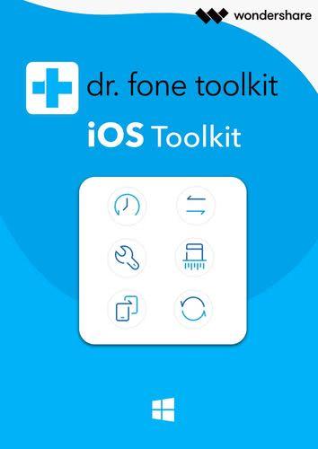 Verpackung von Wondershare Dr. Fone für iOS Toolkit (1 Jahr/5 Geräte) [PC-Software]