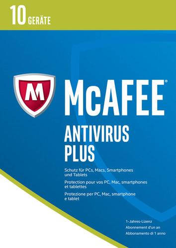 Verpackung von McAfee AntiVirus Plus 2017  10 Geräte / 12 Monate [MULTIPLATFORM]