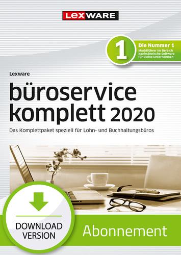 Lexware büroservice komplett 2020 – Mehrplatz – Abo-Version (Download), PC
