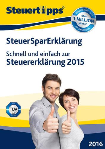 Verpackung von SteuerSparErklärung 2016 [PC-Software]