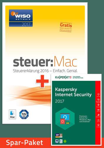 Verpackung von Sparpaket: WISO steuer:MAC 2017 (für die Steuererklärung 2016) + Kaspersky Internet Security 2017 für 1 Jahr [Mac-Software]