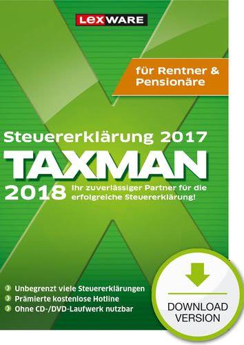 Verpackung von TAXMAN 2018 Rentner & Pensionäre [PC-Software]