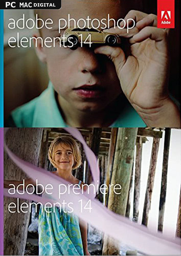 Verpackung von Adobe Photoshop Elements 14 & Premiere Elements 14 [MULTIPLATFORM]
